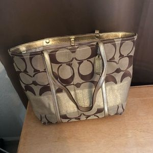Used authentic Coach tote